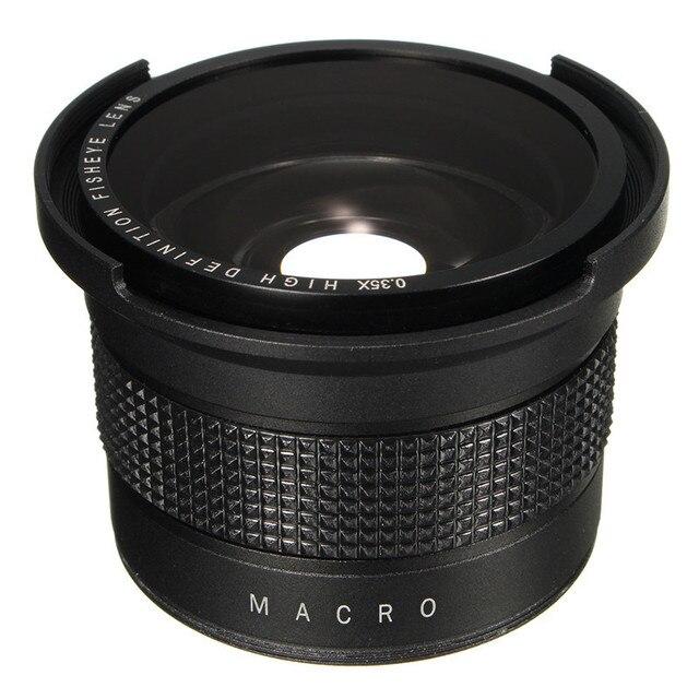 0.35X Super Wide Angle Fisheye Macro Lens 58mm For Canon EOS 700D 650D 600D 550D 1100D Rebel T5i T4i T2i XSi SL With 18-55mm