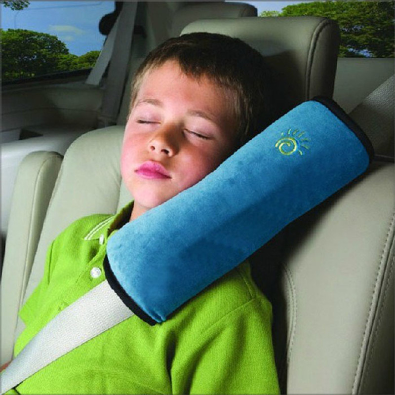 Pillow Cushion-Cover Car-Seat-Belts Safety-Strap Children Blue Soft Shoulder-Protection-Case