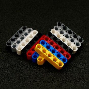 50 Uds MOC Bulk Technic Liftarm 1x5 de espesor de luz sin estudio DIY Motor accesorios de construcción juguete Technic piezas al por mayor 32316