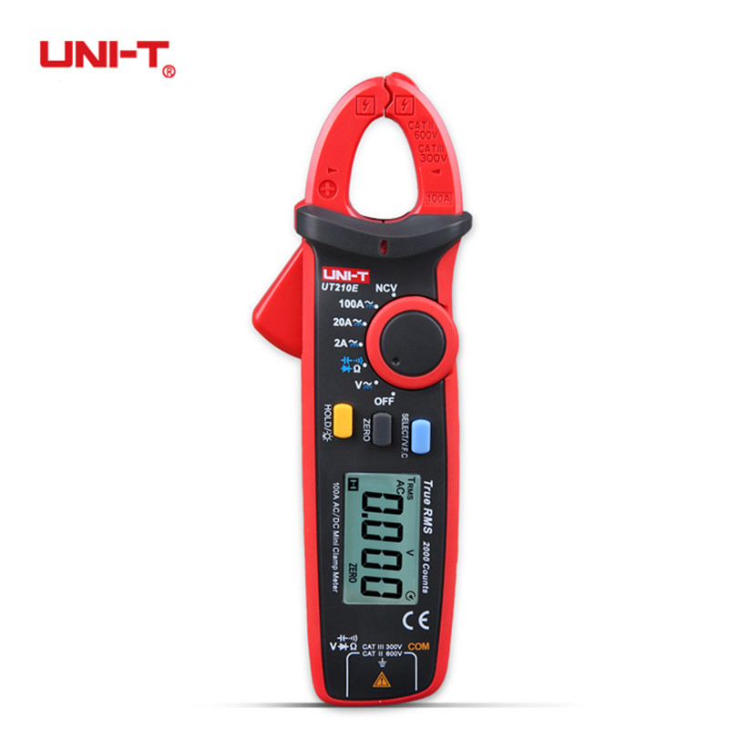 UNI-T Digital UT210E 100Amp 600V AC DC Clamp Meter True RMS VFC Diode Amperimertro Voltage Auto Range Capacitance Multimeter true rms uni t ut210e mini digital clamp meters ac dc current voltage auto range capacitance tester non contact multimeter diode