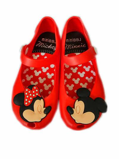 6c16262a5 Minnie Mouse Zapatos Sandalias Mini jalea sandalias para bebé niñas niños  de verano de dibujos animados