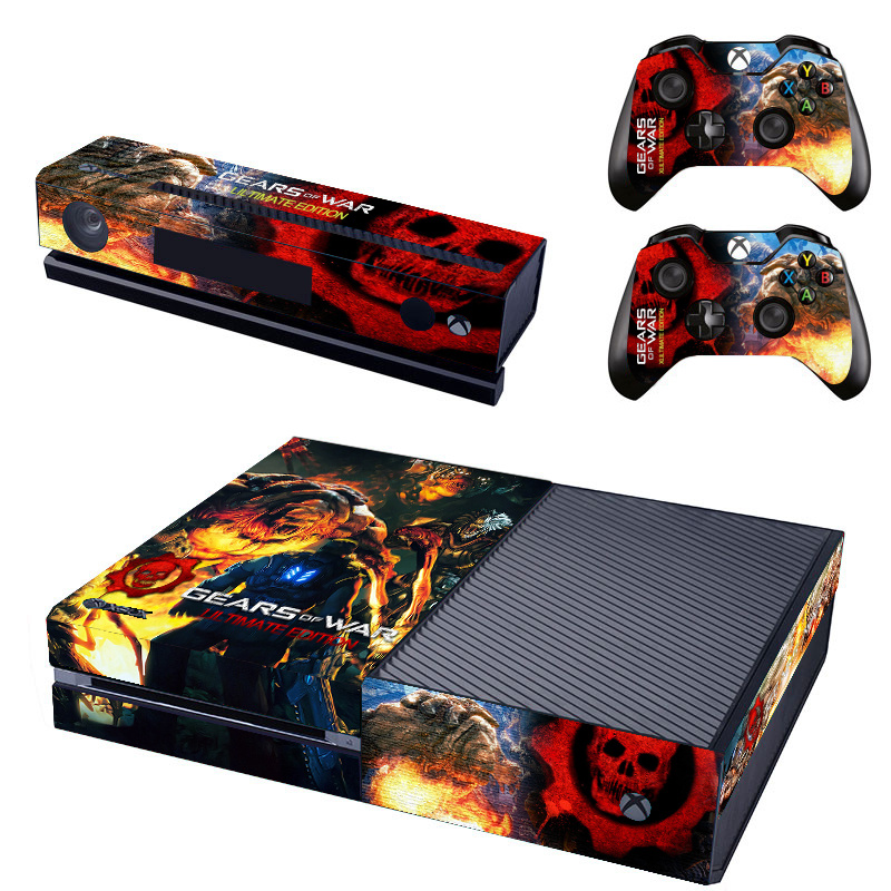 Gears Of War Vinyl Decal Skin Sticker Cover For Microsoft Xbox One Game Console Controller Kinect Skin Stickers For X Box One