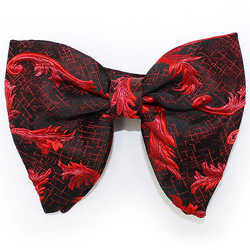 RBOCOTT New Big Bow Ties Men's Novelty Floral Bowtie Red Black Solid Fashion Flowers Bow Tie For Men Women Wedding Accessories