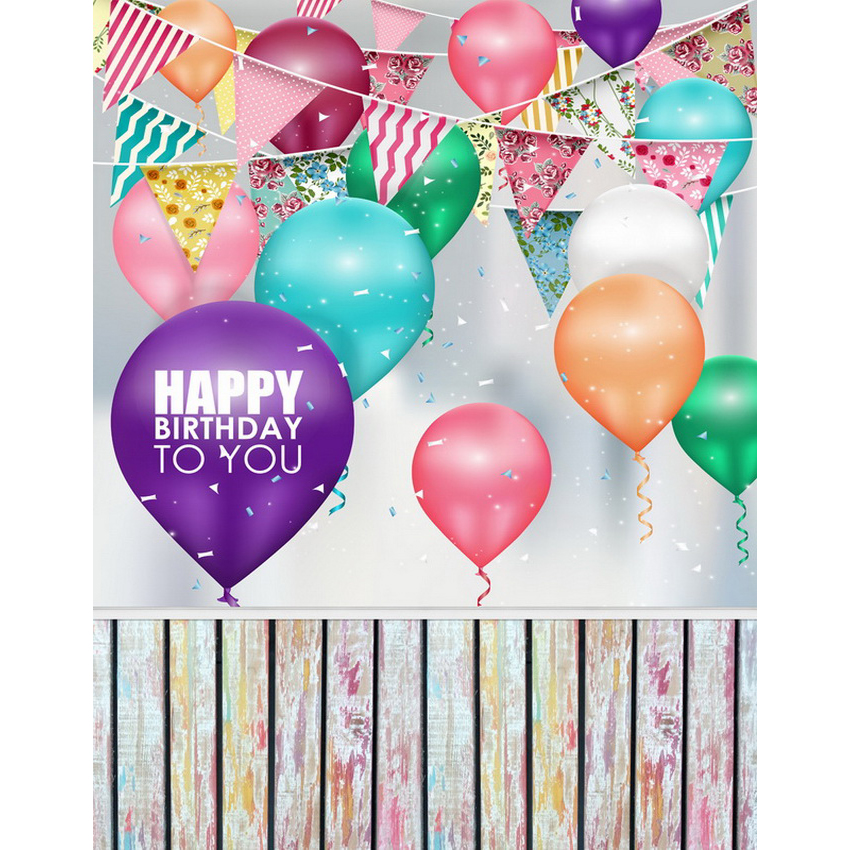 Custom vinyl cloth print 3 D birthday party balloons photo studio backgrounds for children portrait photography backdrops S-2123