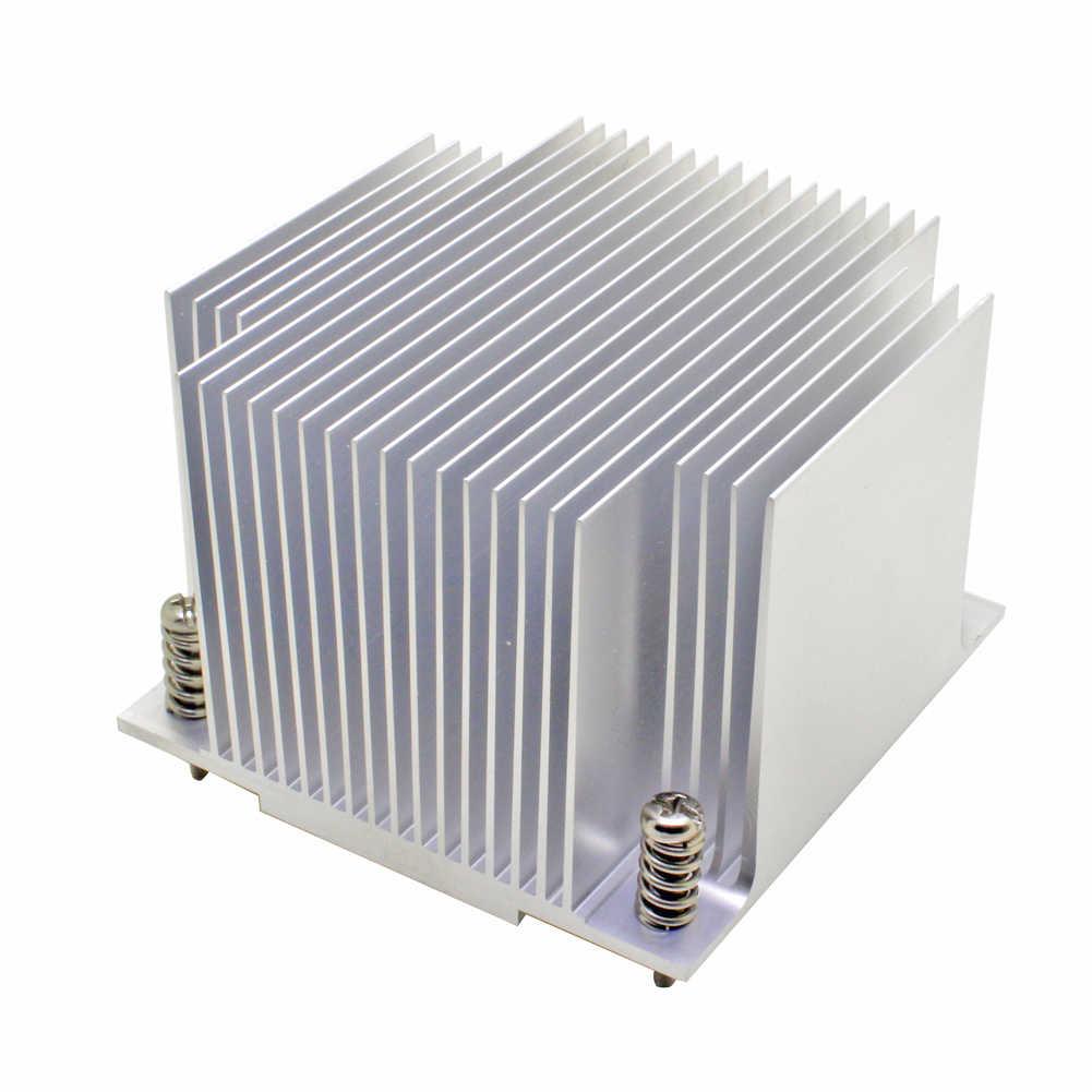 2U server CPU cooler Aluminium heatsink voor Intel 1155 1156 1150 1151 Industriële computer Passieve koeling
