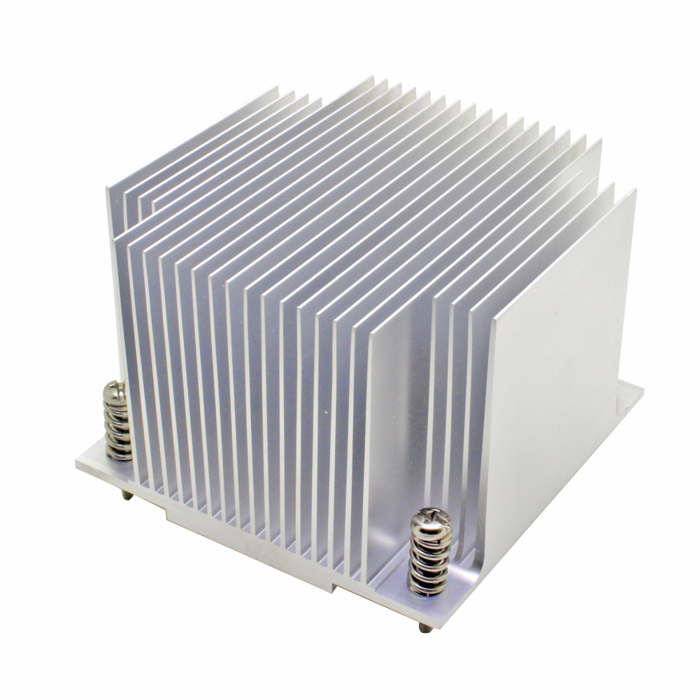2U server CPU cooler Aluminum heatsink for <font><b>Intel</b></font> 1155 1156 1150 1151 Industrial computer Passive cooling image
