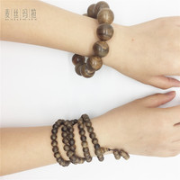 Natural Aromatic Wood Couple Bracelets Handmade Diy Brand Jewelry Natural Malaysia Tymelaeaceae Wooden Beads Lover Jewellery