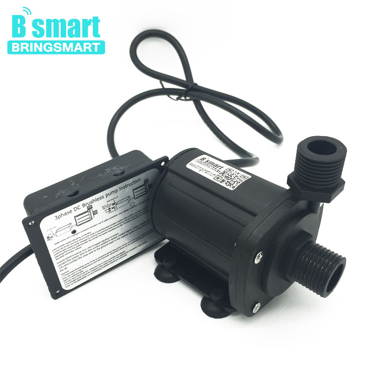 Bringsmart SR-1000B-T 12V Water Pump Booster Circulating DC Pump 630-1200L/H 7-17M 24V Brushless Mini Submersible bringsmart jt 280at 12v dc brushless submersible water pump 24v circulating computer cooling pumps free shipping