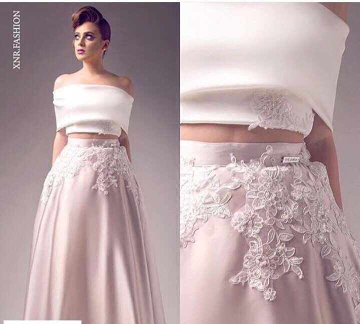 saree boat neck a-line casamento Applique robe de soiree Sheer-illusion Brides Two pieces prom party gown   bridesmaid     dresses