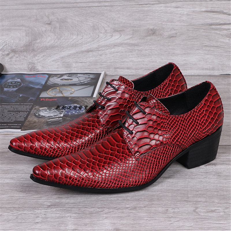 Fashion Red Men Leather Shoes Pointed Toe Wedding Dress Shoes Office Lace Up Party Creepers Mens Flats Oxfords Chaussure Homme fashion pointed toe men patent leather oxfords brown lace up mens wedding dress shoes business leather shoes man creepers