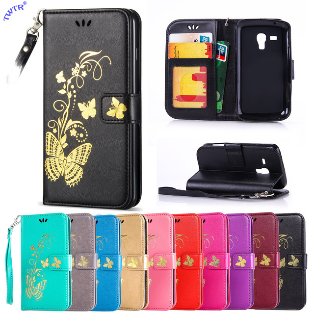 Flip Case for Samsung Galaxy Trend Plus S7580 S 7580 GT-S7580 Phone Leather Cover for Galaxy Trend 2 Duos S7572 S 7572 GT-S7572