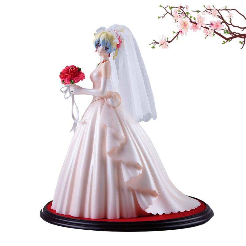 26cm Japanese anime figure Myethos Tengen Toppa Gurren Lagann Ferrous Palin white wedding dress action figure стоимость