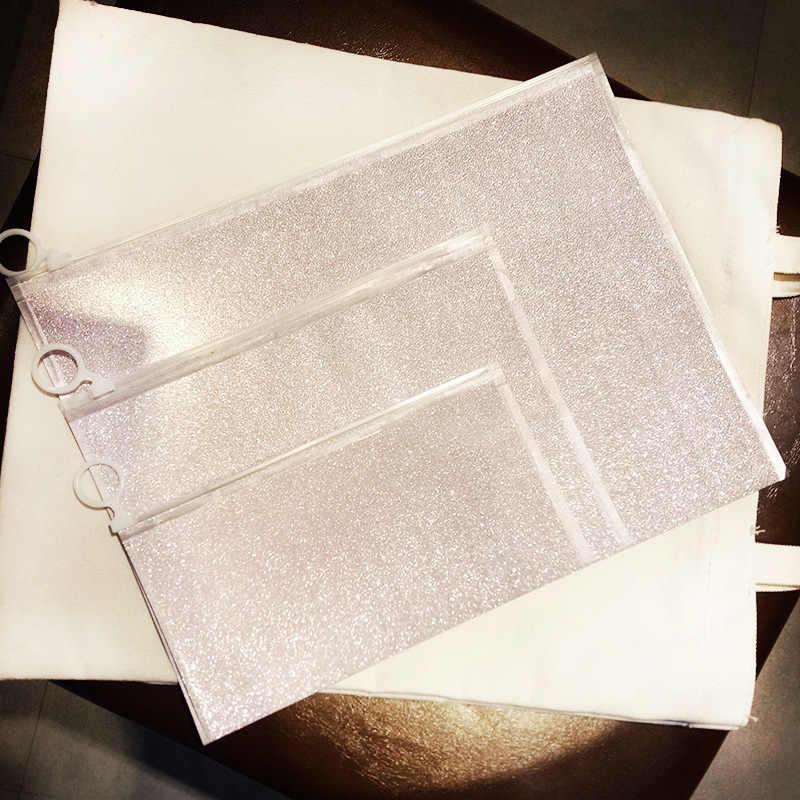 1 шт. Bling тупая польские ПВХ Бумага папки книга карандаш ручка сумка файл документа канцелярские мешок для офиса студент поставляет