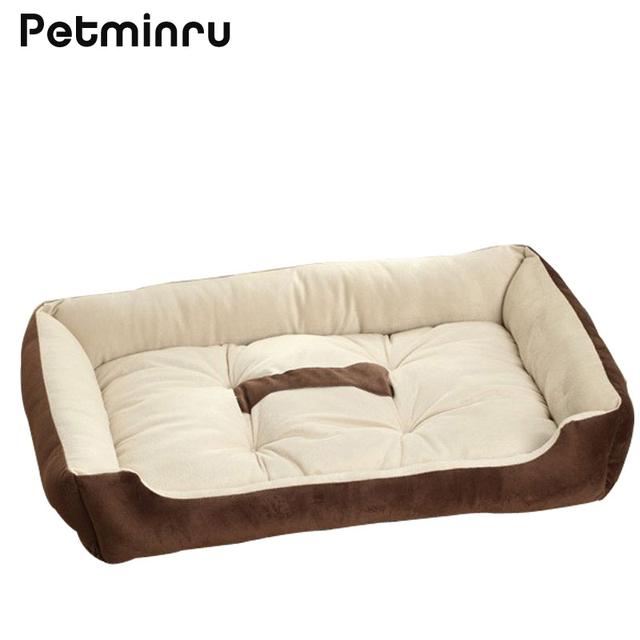 Petminru Dog House Bed Kennel Mat Soft Pet Dog Sofas Puppy Bed Plush Cozy  Nest Warm