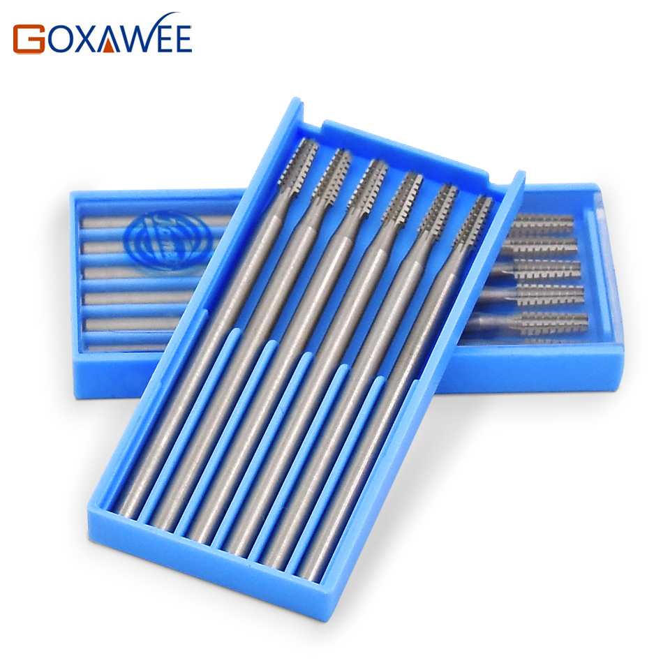 GOXAWEE Steel Rotary Bur Cone 38# Carving Burr Abrasive Tools Grinding Wheels Rotary Tools For Dremel Tools Accessories