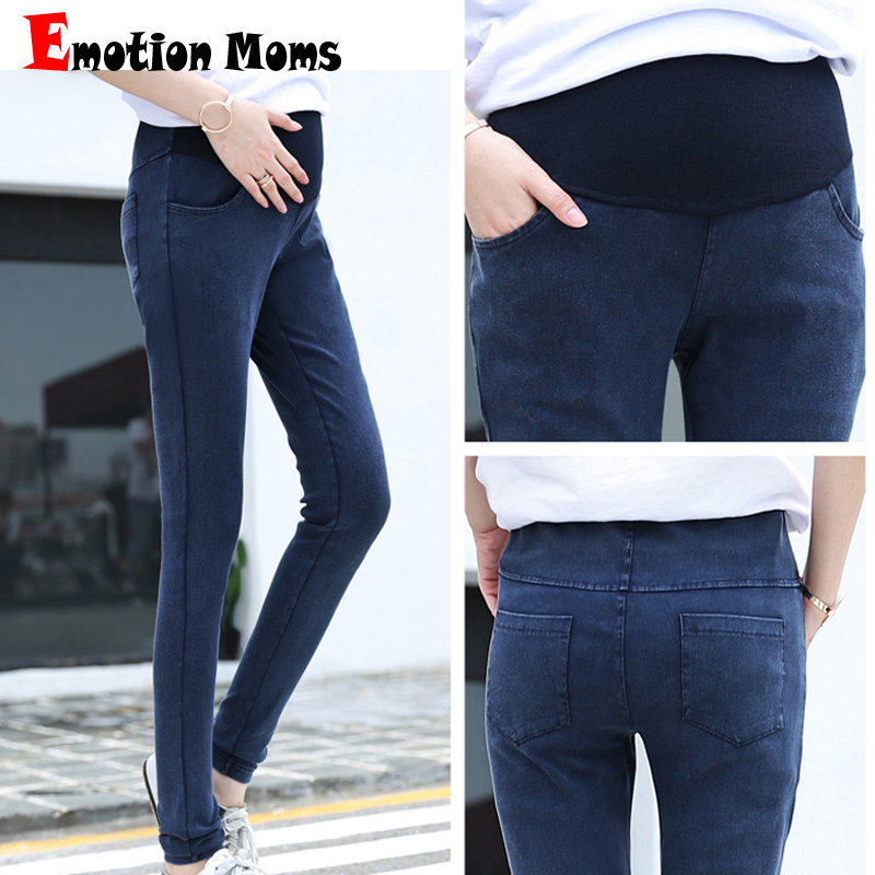 Emotion Moms High Waist Maternity Clothes Maternity Pants Capris pregnancy Jeans For Pregnant Women Pants Maternity Clothing woman fashion slim solid knee distrressed maternity wear jeans premama pregnancy prop belly adjustable pants for women c73