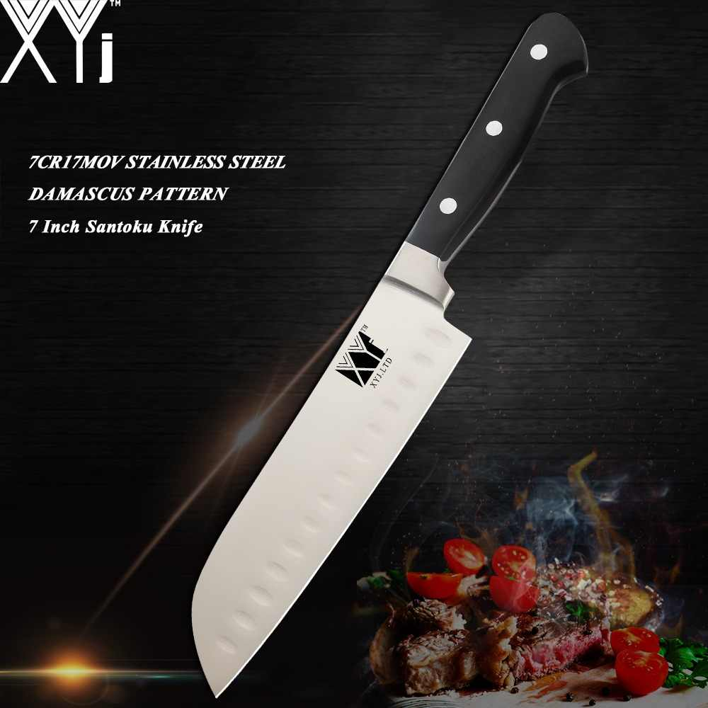 XYj Germany Style Ultra Sharp Blade Kitchen Knife Paring Utility Santoku Bread Chef Slicer Knife Professional Kitchen Tools Sale