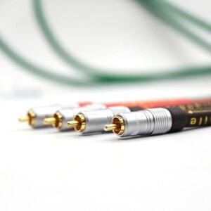 Image 2 - Paire haute qualité 2328 pur cuivre + argent plaqué HiFi Audio câble RCA câble dinterconnexion