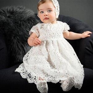 Платье для крещения для девочек 1 год, кружевное платье для свадебной вечеринки