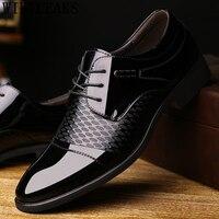 Patent leather formal shoes men oxford shoes for men office shoes men italian men shoes cuir deri ayakkab erkekl herenschoenen