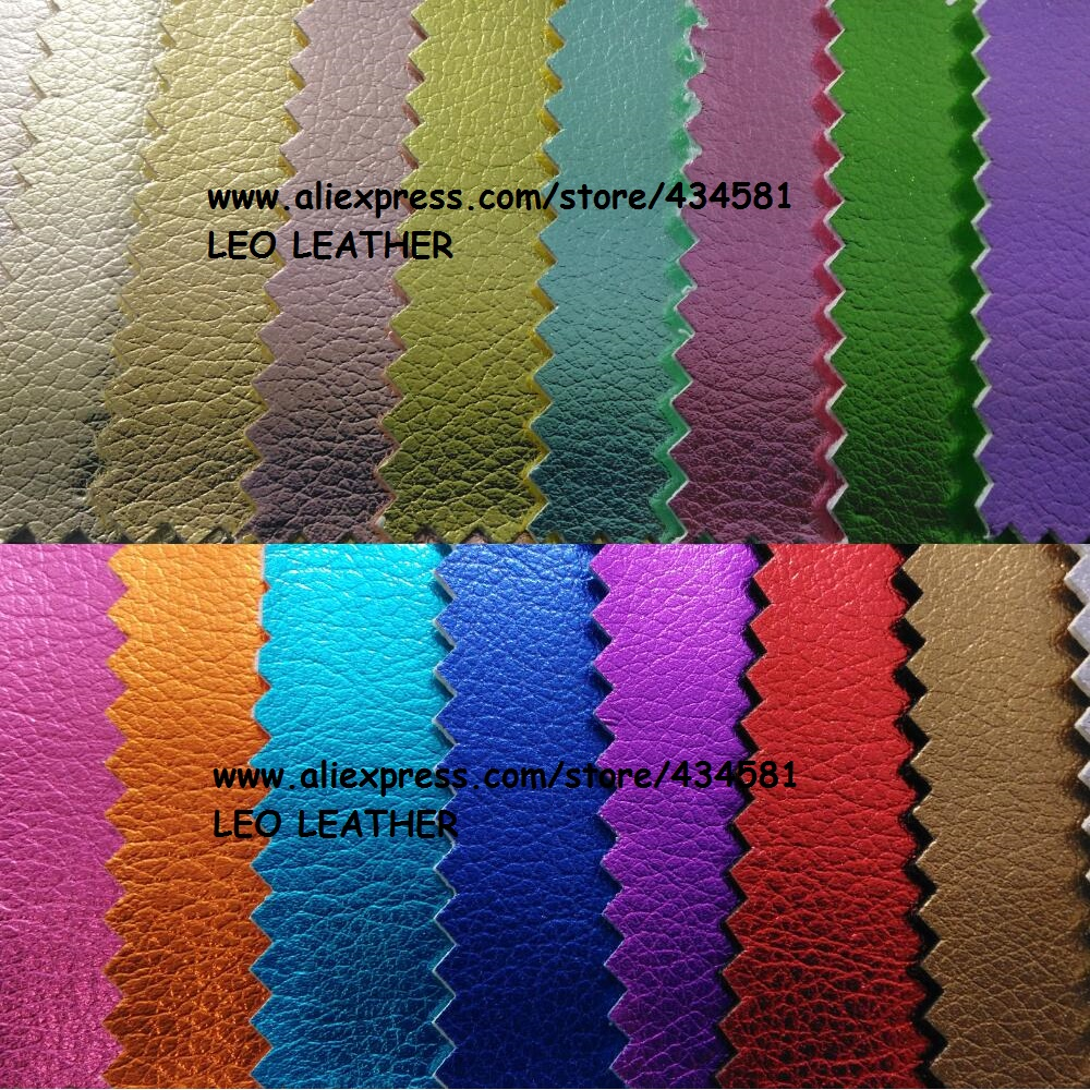 Classic Metallic Litchi Leather Synthetic Faux Fabric Pu For Sofa Handbags Shoes And Diy P632 In From Home