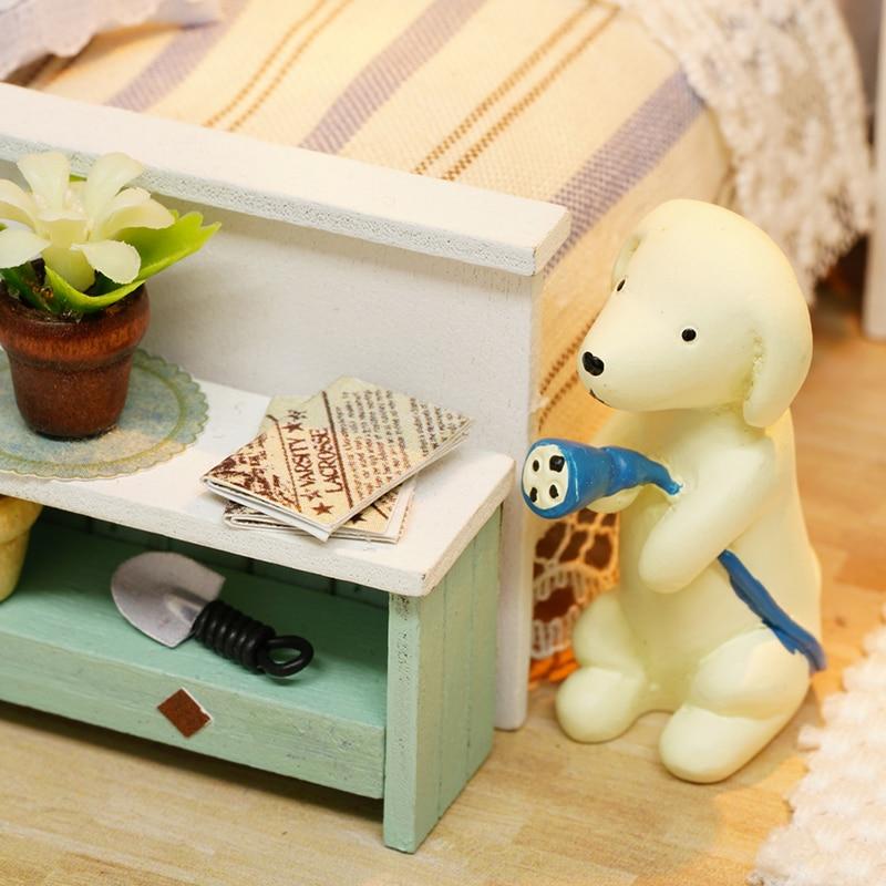 Möbler DIY Doll House Wodden Miniatura Doll House Möbler Kit - Dockor och tillbehör - Foto 3
