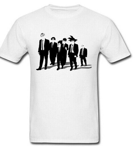 Dragon Ball Z Reservoir Dogs Men T Shirt Goku Krillin Vegeta Gohan Insaiyan Design Printed Tee 100% Cotton O-neck Fashion Shirt