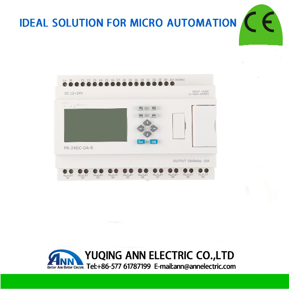 PR-24DC-DAI-RTA with LCD, without cable Programmable logic controller,smart relay,Micro PLC controller , CE ROHS цены онлайн