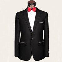 Nổ mìn đoạn mới len phù hợp với phù rể chú rể phù hợp với thương hiệu thiết lập một khóa nhỏ rô business dress suit tùy biến