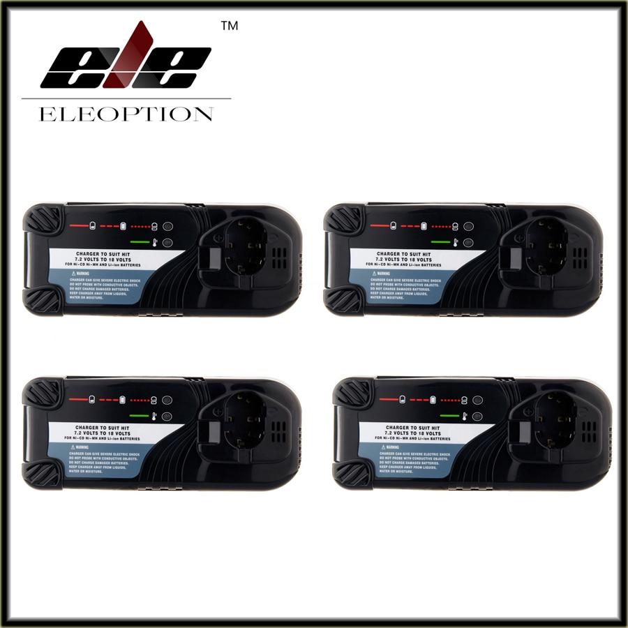 Eleoption 4PCS Charger for Hitachi 7.2V-18V Ni-CD Ni-MH and Li-ion Power Tool Battery,UC7SB,UC9SD,UC14SD,UC14YFA,UC18YG