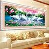 DIY 5D Swan Eternal Love Round Diamond Painting Cross Stitch Kits Soulmate Diamond Mosaic Home Decoration