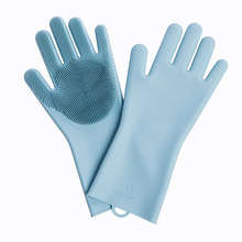JORDAN & JUDY Magic Silicone Cleaning Gloves Kitchen Foaming Heat Insulation for Home