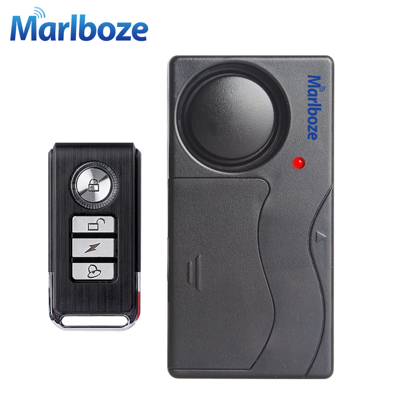 Free Shipping Black 1 Set Remote Control Bicycle Electromobile Security Vibration Warning Alarm System Bike Anti Lost Reminder