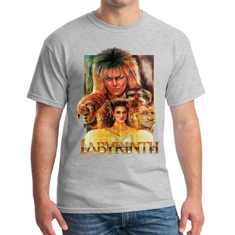 Design Labyrinth T Shirt Goblin Cult Film Movie 1980s Fantasy Retro David Bowie Summer Streetwear Sleeve T-Shirt Clothes Unisex image