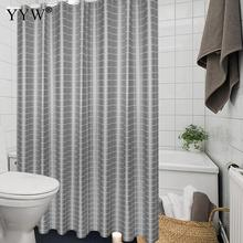 Peva Bath Screens Gray Bathroom Shower Curtain Moldproof Waterproof Products Curtains Nordic Accessories