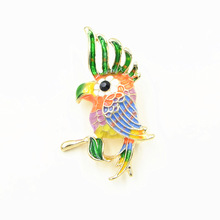 Cute Colorful Enamel Oriole Bird Brooch Pins Insect Men Women'S Alloy Bird Brooches For Suits Dress Banquet Parrot Brooch Gift