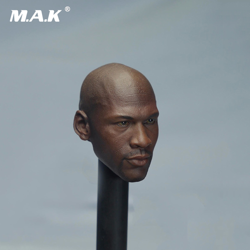 1/6 Male Head Sculpts Basketball Star Michael Jordan Head Carving Model Toys For 12