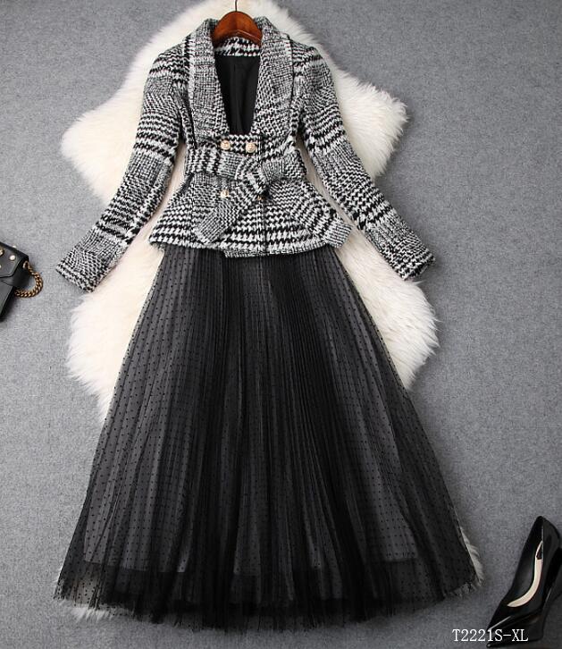 Blouse Femmes Eurropean Style 2018 Maille Color Décontracté T2221 Cltohes Automne Costume Photo Hiver Jupe Mode Nouveautés Patchwork zwgqxArYz