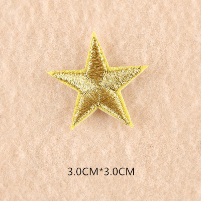 1 шт. смешанные нашивки со звездами для одежды, железная вышитая аппликация, милая нашивка эмблема на ткани, одежда, аксессуары для одежды DIY 61 - Цвет: 61Q