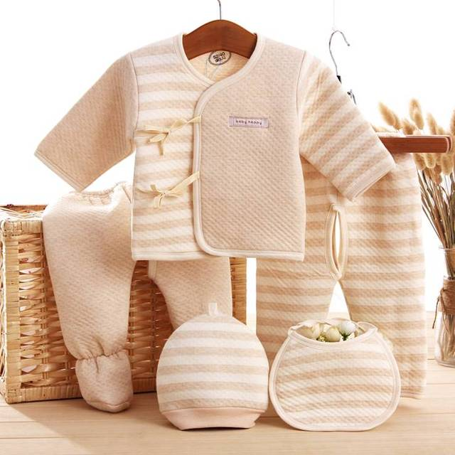 Belva 100% organic cotton 5 Pcs Super Soft Spring Autumn Unisex Baby Boys Girls Newborns Underwear 0-6M Baby Clothing set 515