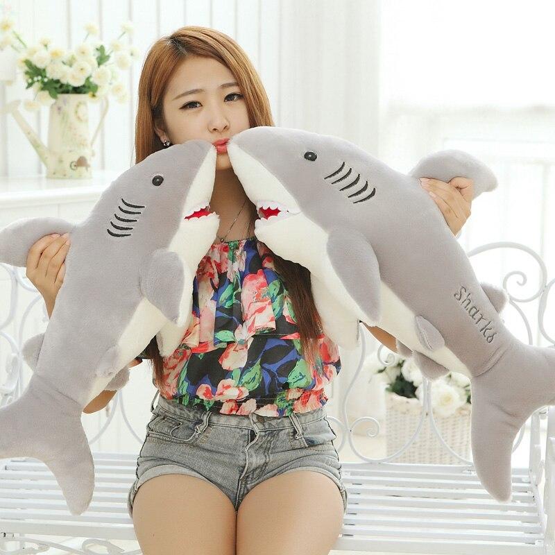 100 CM géant en peluche requin blanc en peluche poupée jouets pour enfants doux animal oreiller/coussin filles cadeau 1 pièces