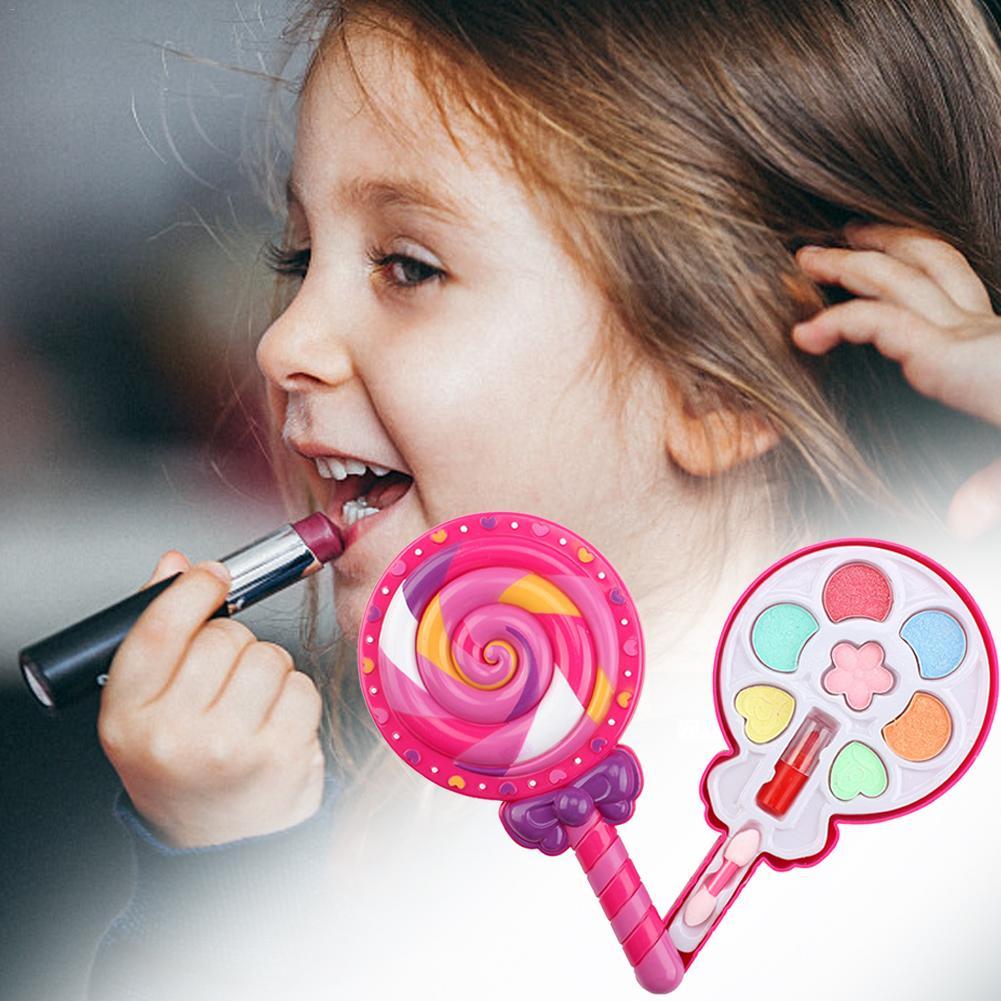 Модный макияж креативный набор косметики Сделай Сам модный моющийся набор для макияжа для детей Салон красоты      АлиЭкспресс
