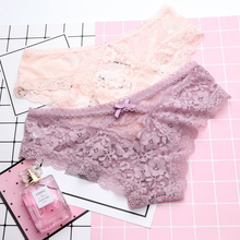 SP&CITY New Arrival Floral Embroidered Lace Underwear Women Sexy Hollow Out Panties Thong Crotch Cotton Briefs Cute Girl