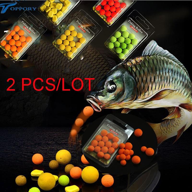 Toppory 2PCS / लॉट 12 मिमी कार्प मछली - मछली पकड़ना