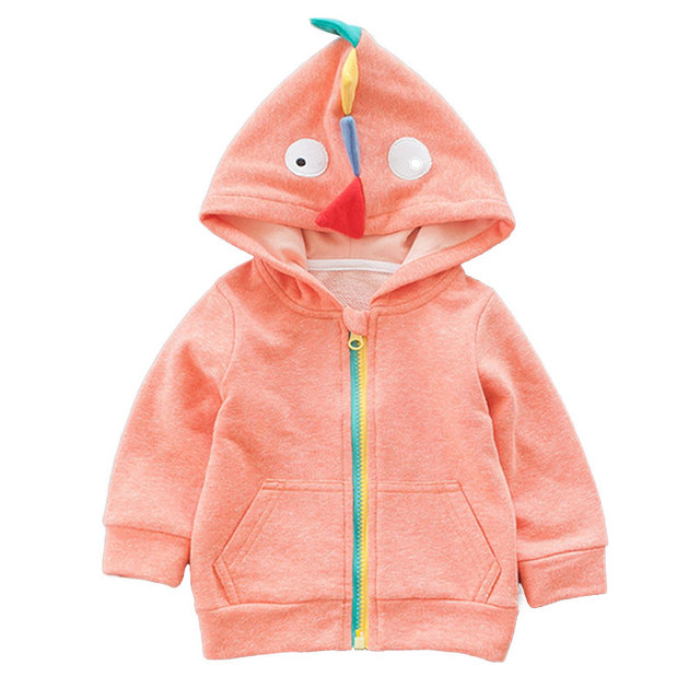 2017 Autumn New Arrival Dinosaur Hooded Baby Coat Cute Cartoon Baby Boy Jacket 2 Colors Baby Jackets Infant Cardigan Bebek Mont