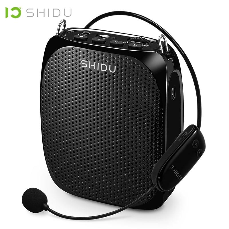 SHIDU Ultra UHF Portátil Sem Fio Mini Speaker Áudio USB Altifalante Amplificador de Voz Para Professores Tourrist Instrutor de Yoga S615