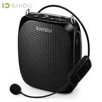 SHIDU Ultra Wireless Portable UHF Mini Audio Speaker USB Lautsprecher Voice Amplifier For Teachers Tourrist Yoga Instructor S615