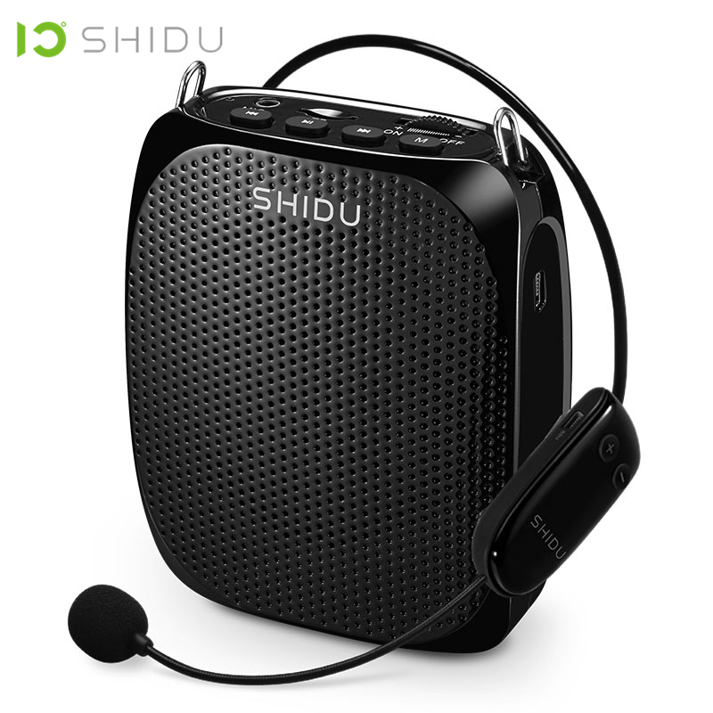 SHIDU Ultra portátil Inalámbrico UHF Mini altavoz de Audio USB Lautsprecher de voz amplificador para los maestros turista Instructor de Yoga S615
