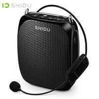 SHIDU Ultra sans fil Portable UHF Mini haut-parleur USB Lautsprecher amplificateur vocal pour les enseignants Tourrist Yoga instructeur S615