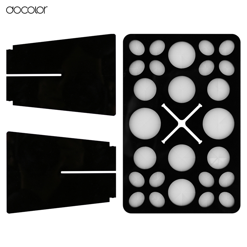 Docolor Makeup Brushes Holder Stand Collapsible Air Drying Makeup Brush Organizing Holder Cosmetic Tool